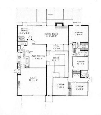 Where 39 s nate december 2007 Eichler atrium floor plan