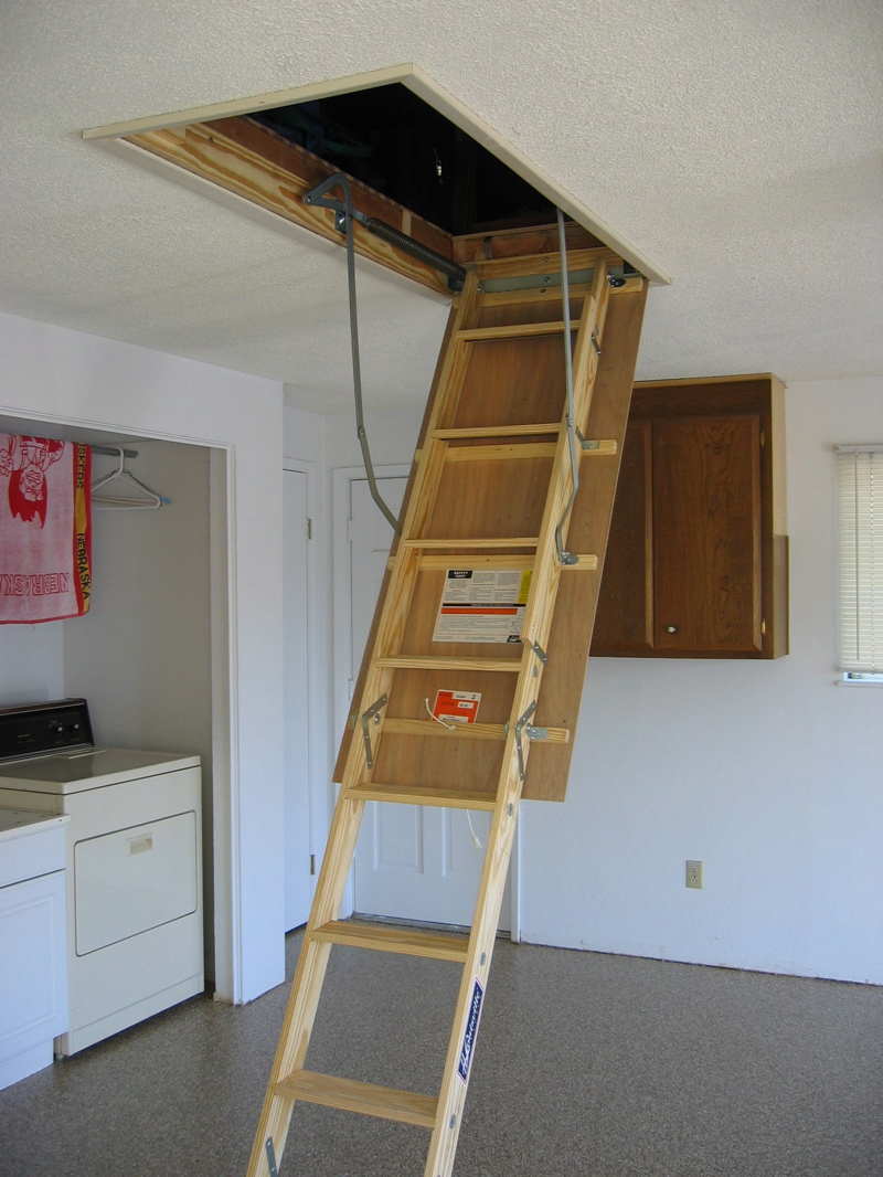 Attic Door Stairs Insulation